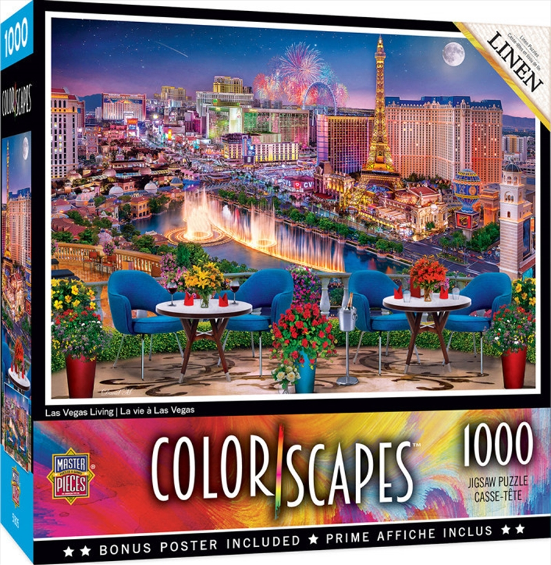 Colorscapes Las Vegas Living 1000 Piece Puzzle | Merchandise