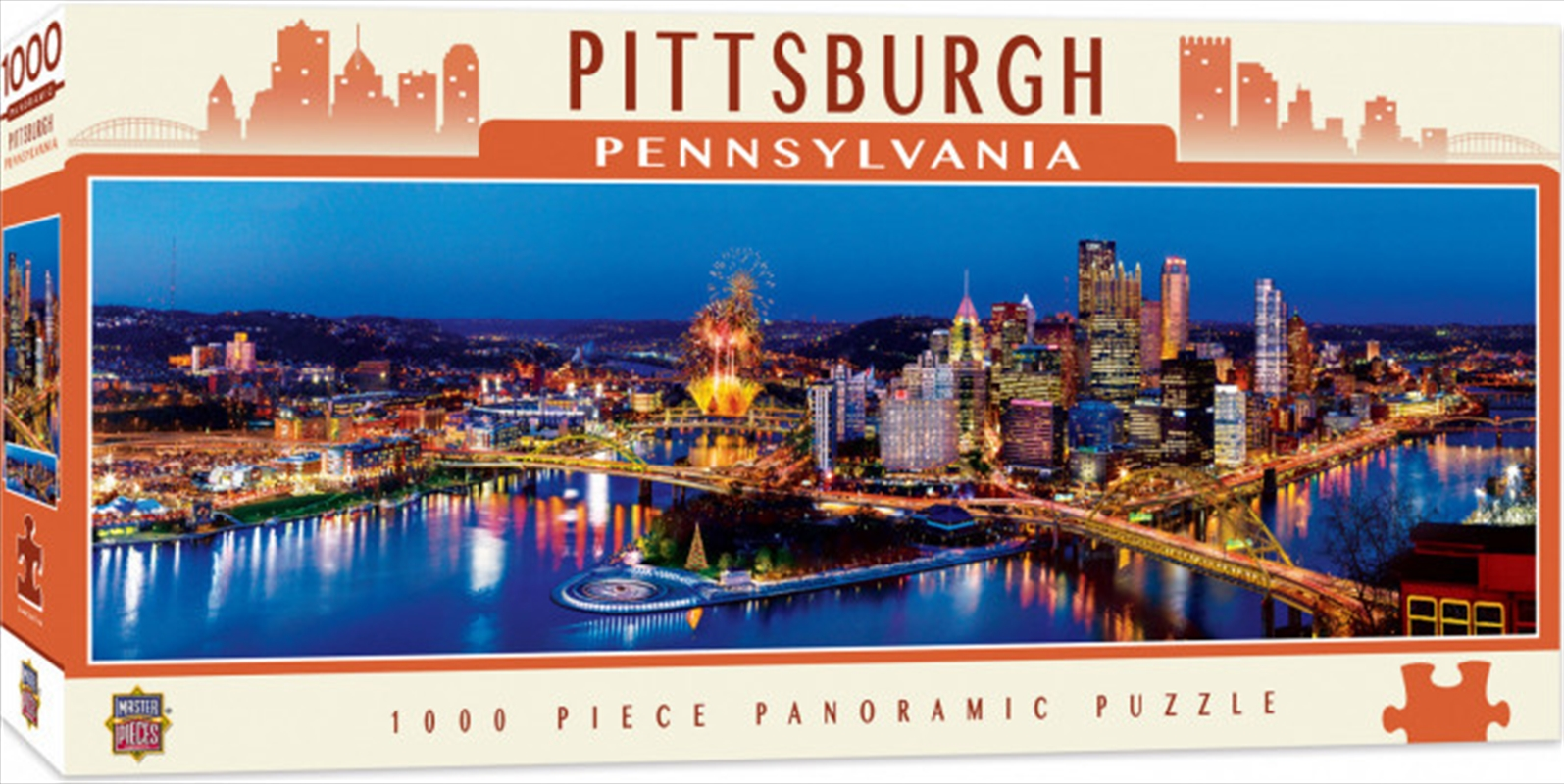 City Panoramic Pittsburgh 1000 Piece Puzzle | Merchandise