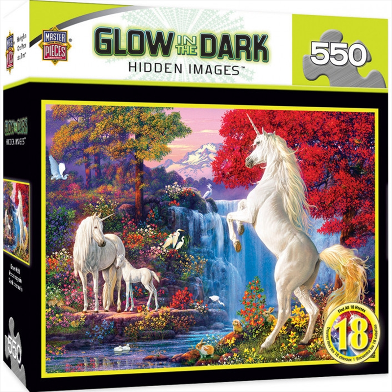 Hidden Image Glow Dream World 550 Piece Puzzle   Merchandise