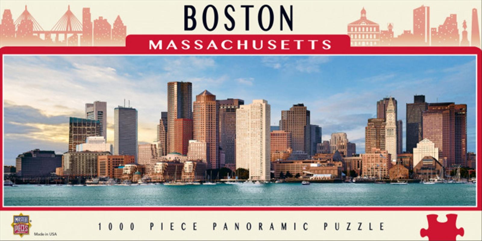 City Panoramic Boston 1000 Piece Puzzle | Merchandise