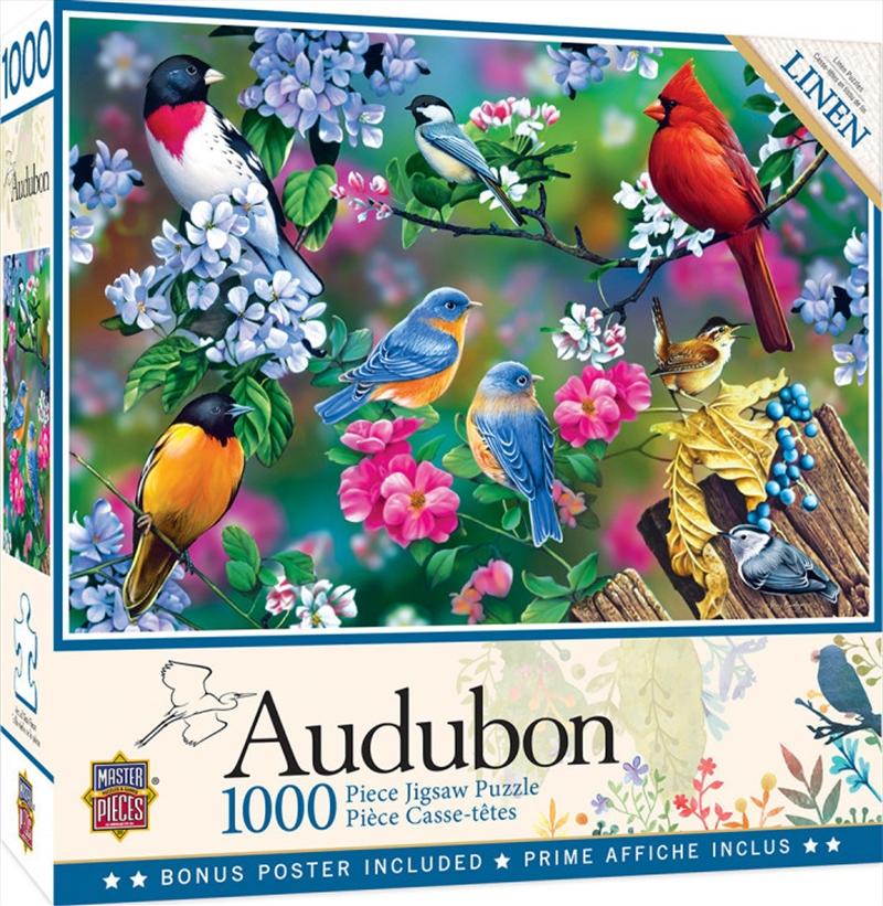 Audubon Songbird Collage 1000 Piece Puzzle | Merchandise