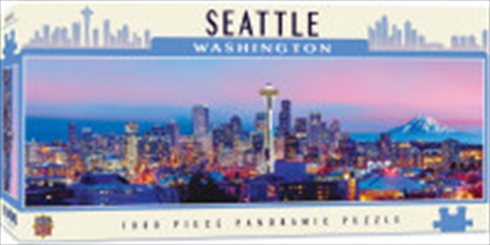 City Panoramic Seattle 1000 Piece Puzzle | Merchandise
