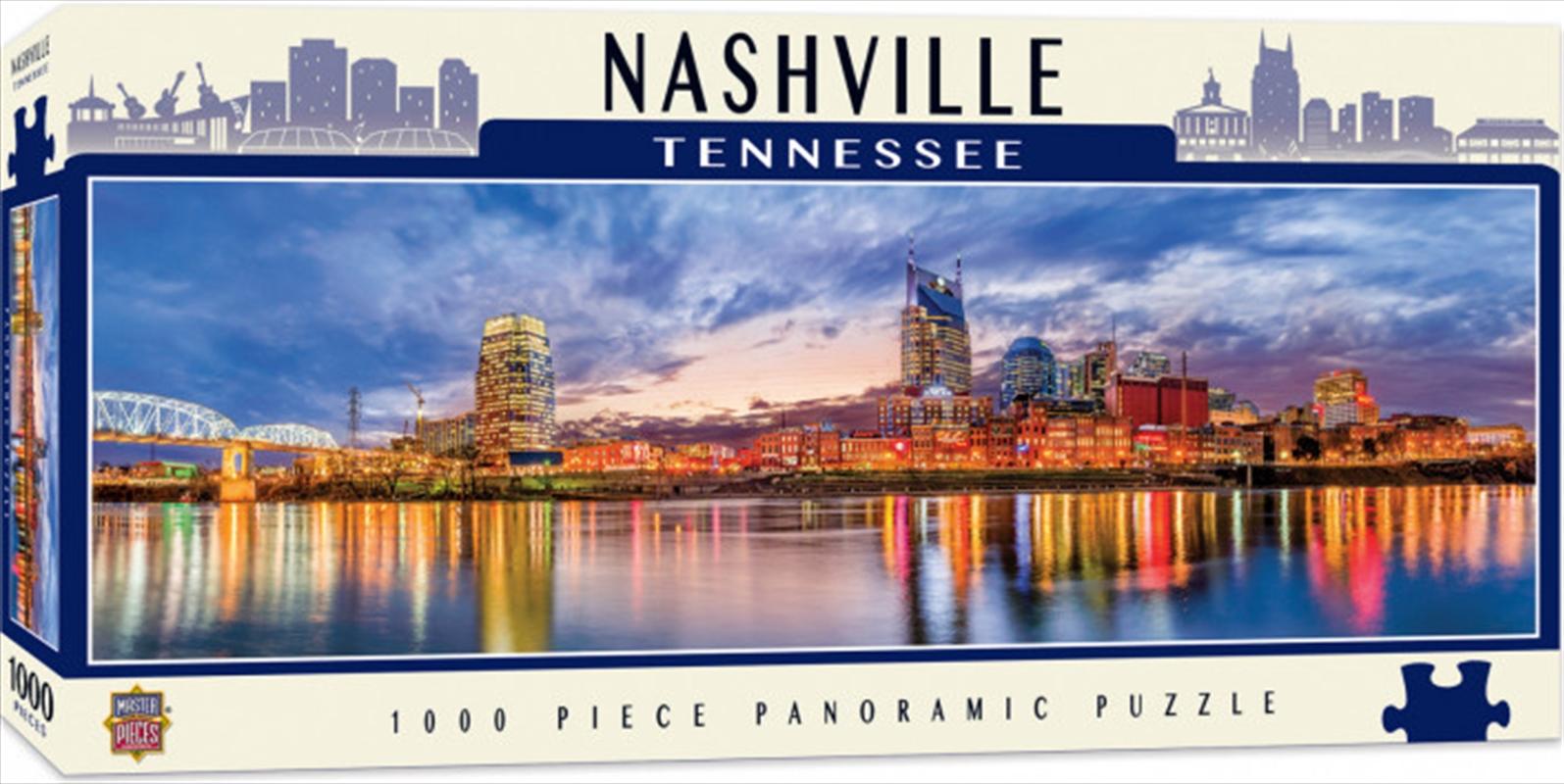 Panoramic Nashville Tennessee 1000 Piece Puzzle | Merchandise