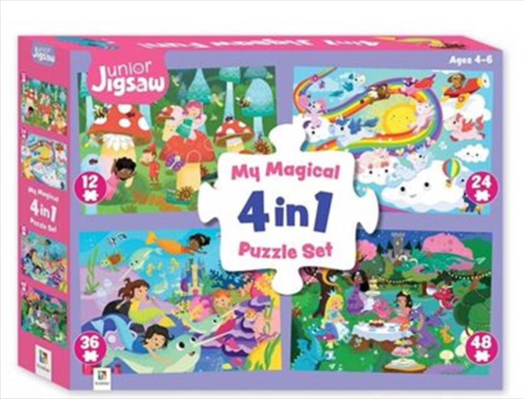 My Magical 4 In 1 Jigsaw Fun | Merchandise
