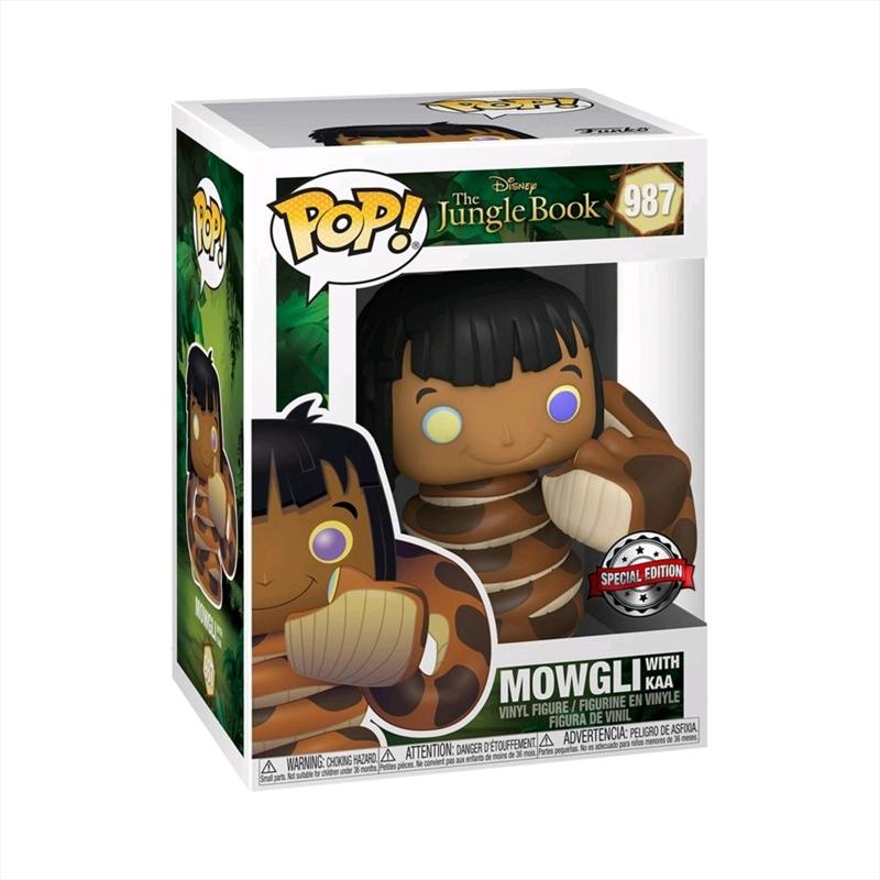 Jungle Book - Mowgli with Kaa US Exclusive Pop! Vinyl [RS] | Pop Vinyl
