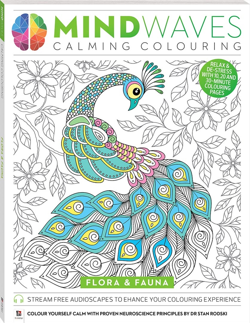 Mindwaves Calming Colouring: Flora & Fauna | Colouring Book