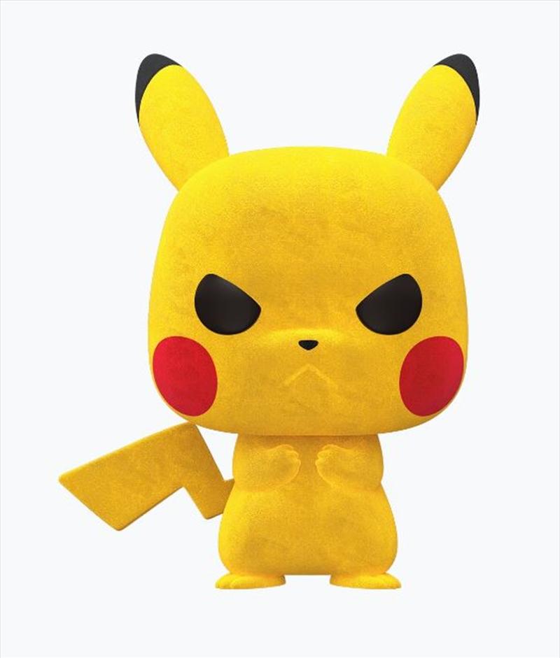 Pokemon - Pikachu Grumpy Flocked NYCC 2020 US Exclusive Pop! Vinyl [RS] | Pop Vinyl