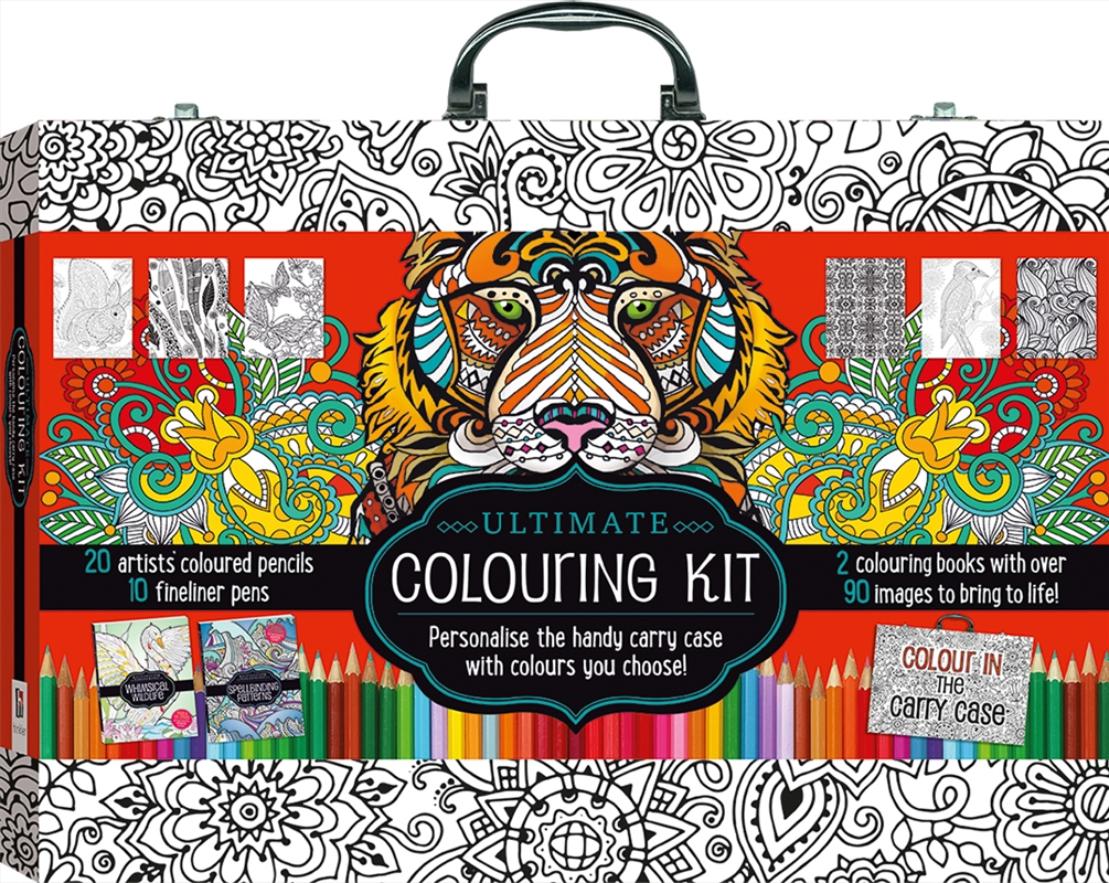 Ultimate Colouring Carry Case: Animals and Patterns | Colouring Book
