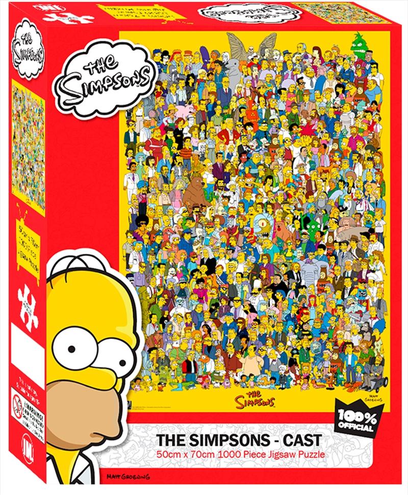 Simpsons Cast 1000 Piece Puzzle   Merchandise