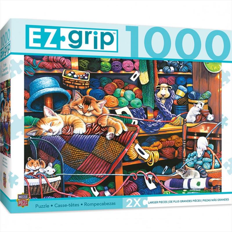 Ez Grip Knittin Kittens 1000 Piece Puzzle | Merchandise