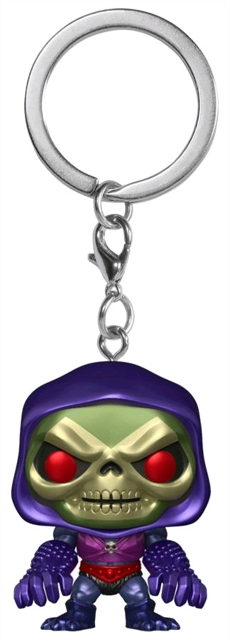 Masters of the Universe - Skeletor w/Terror Claws Metallic US Exclusive Pocket Pop! Keychain[RS] | Pop Vinyl