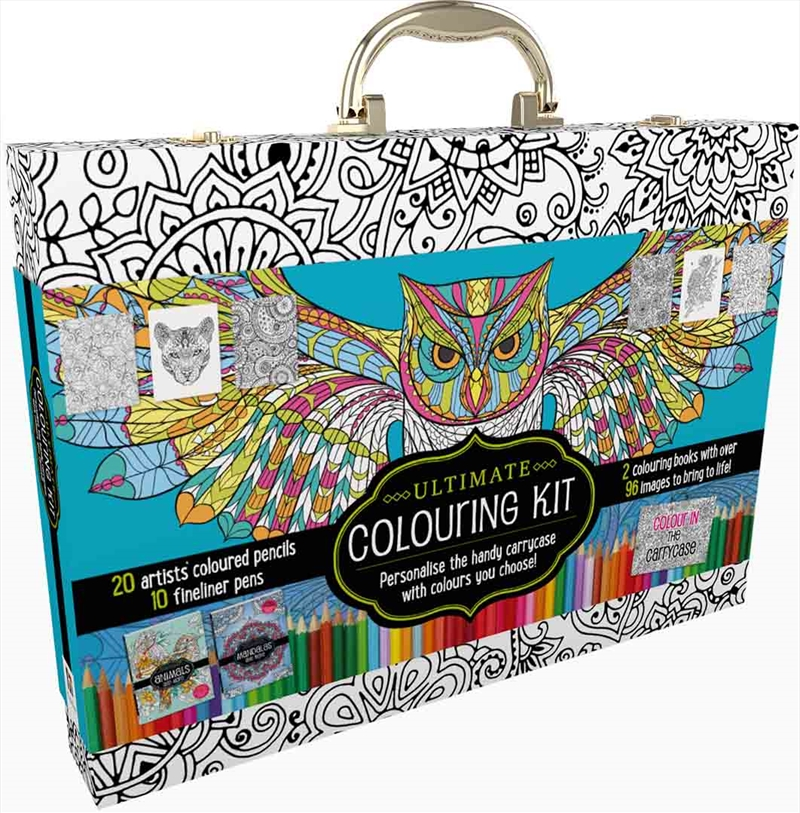Ultimate Colouring Carry Case: Mandalas and Animals | Colouring Book