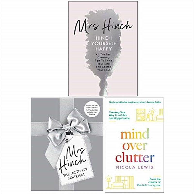 Mrs Hinch Collection 3 Books Set (The Activity Journal, Hinch Yourself Happy) | Hardback Book