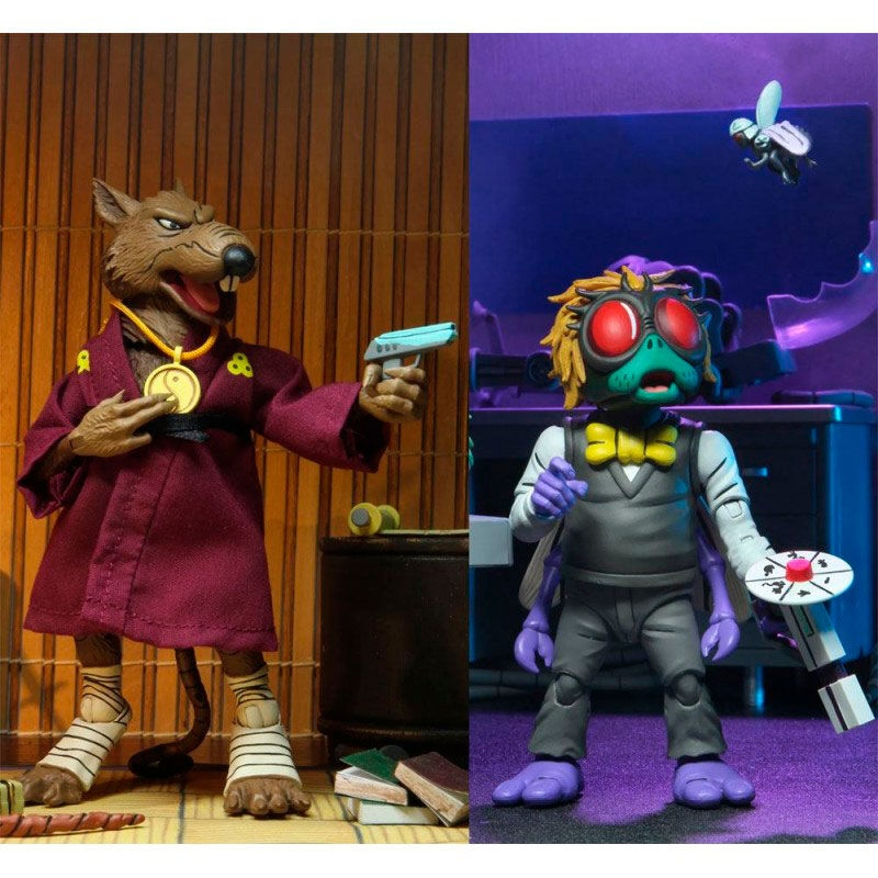 "Teenage Mutant Ninja Turtles - Splinter & Baxter Stockman 7"" Action Figure 2-pack   Merchandise"