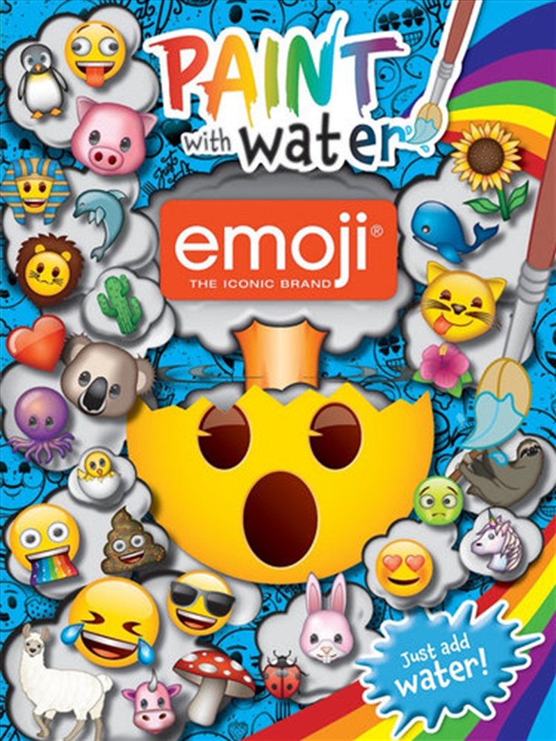 Emoji: Paint With Water | Colouring Book