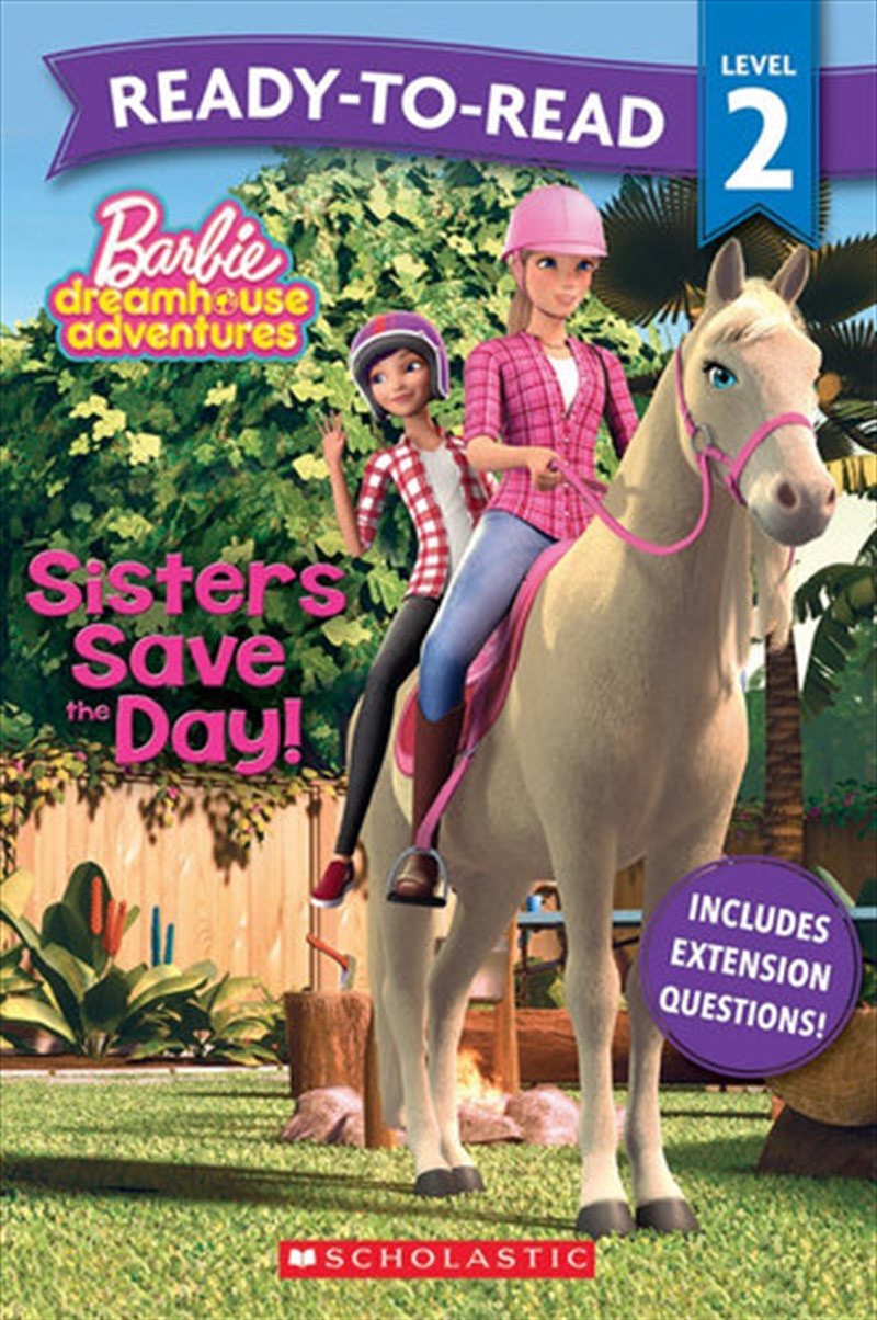 Barbie: Sisters Save The Day! Ready-to-read Level 2 (mattel)   Paperback Book