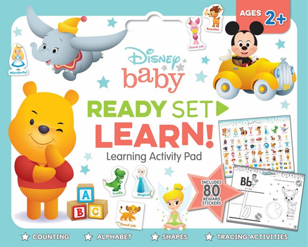 Disney Baby: Ready Set Learn! Learning Activity Pad | Paperback Book