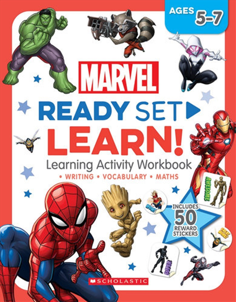 Marvel: Ready Set Learn! Learning Activity Workbook | Paperback Book