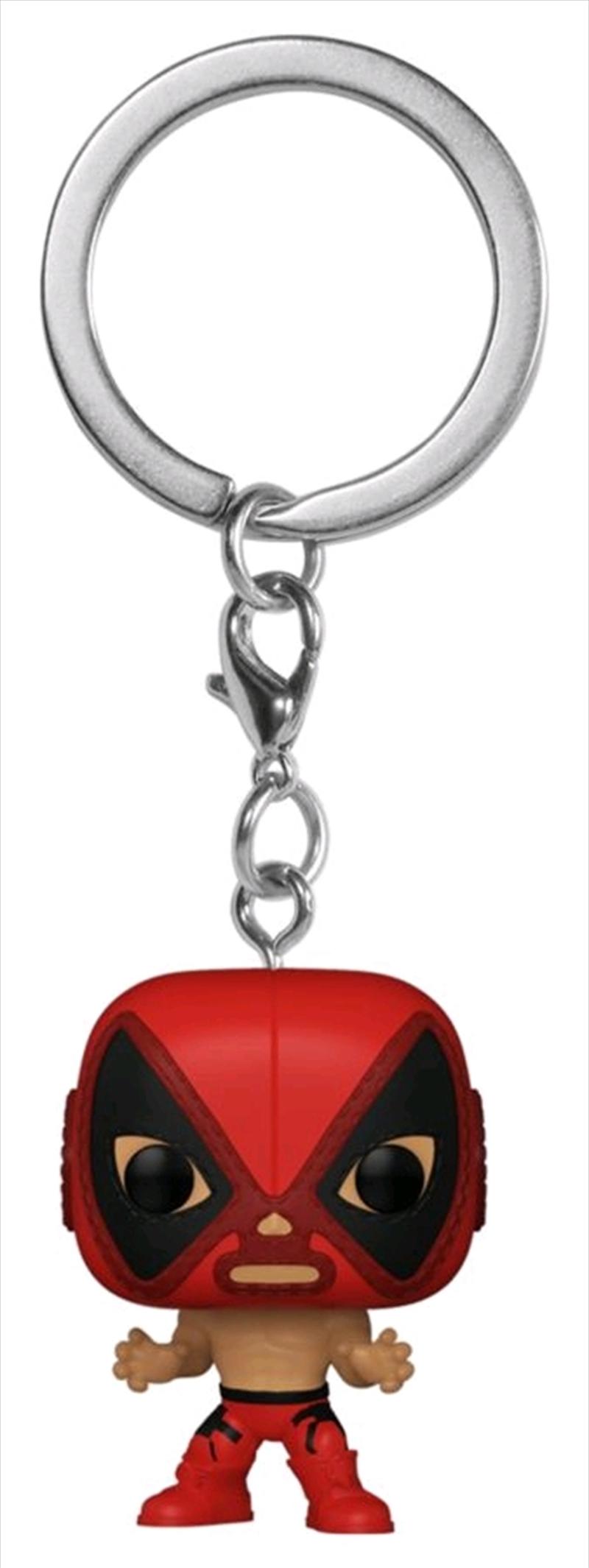 Deadpool - Luchadore Deadpool Pocket Pop! Keychain | Pop Vinyl