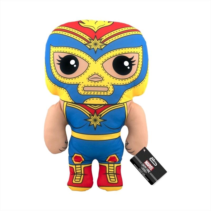 "Captain Marvel - Luchadore Captain Marvel 17"" Plush   Toy"