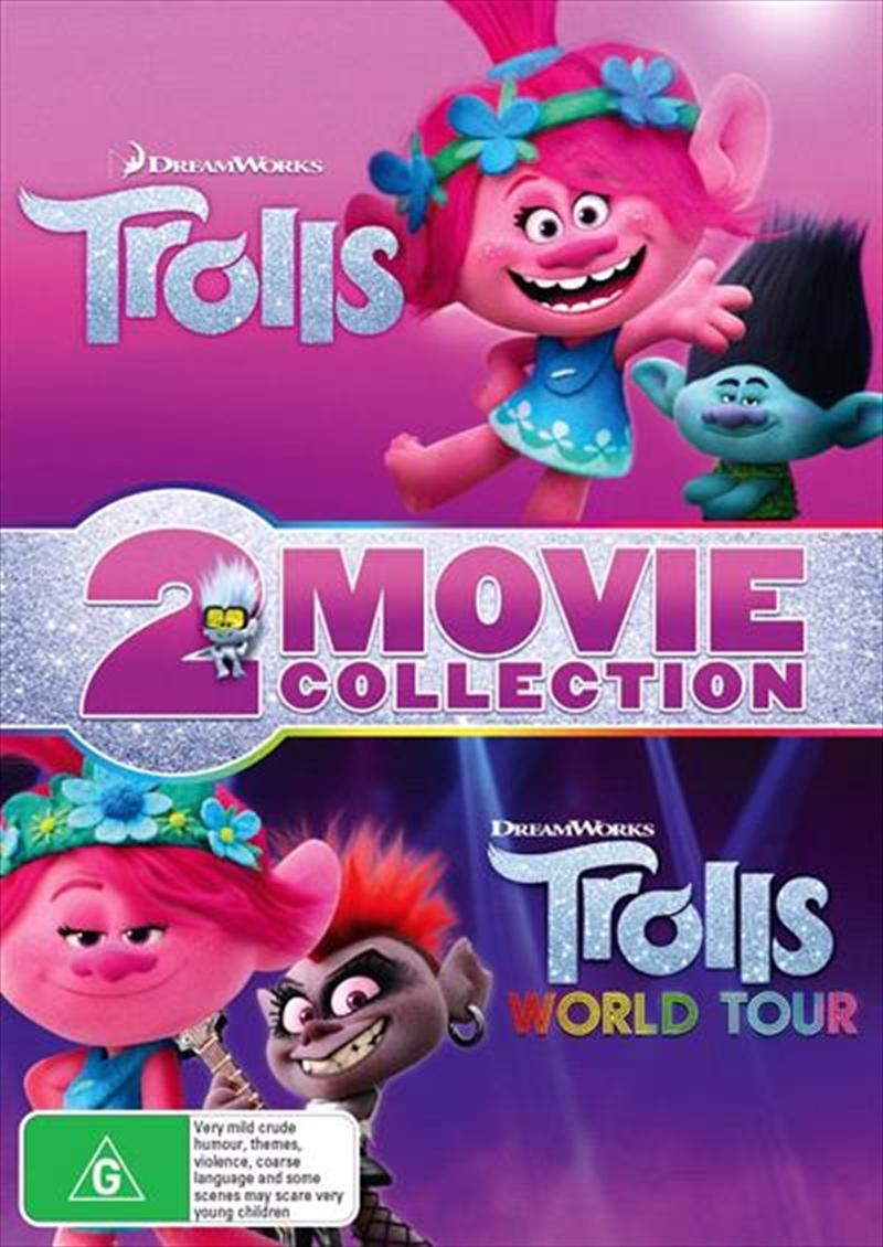 Trolls / Trolls World Tour | 2 Movie Franchise Pack | DVD