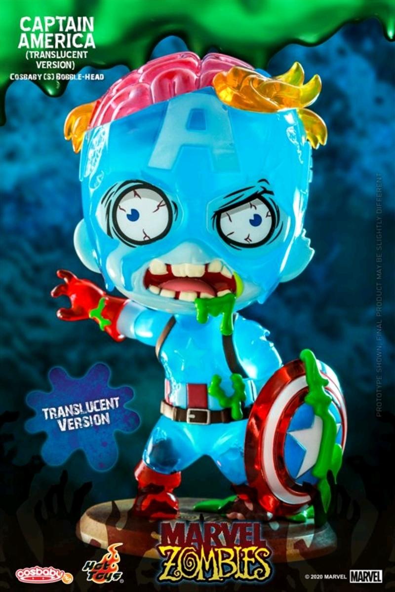 Marvel Zombies - Captain America Translucent Cosbaby | Merchandise