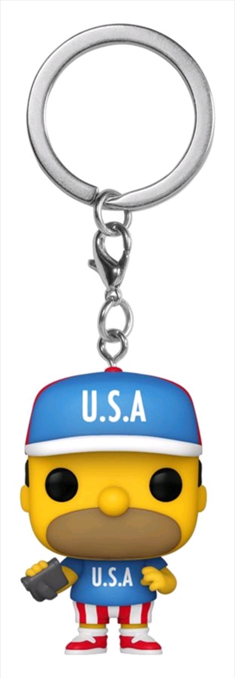 The Simpsons - Homer U.S.A. Pocket Pop! Keychain | Pop Vinyl