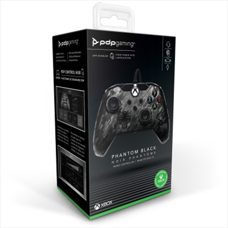 PDP Xbox Series X Wired Controller Black Camo   XBox One