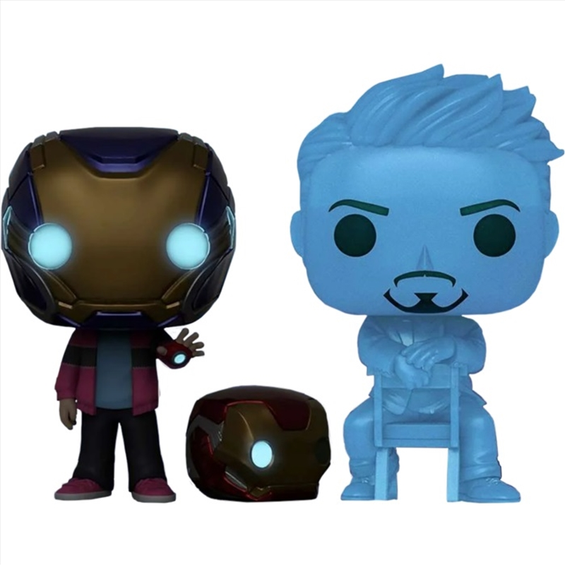 Avengers 4: Endgame - Morgan & Hologram Tony Glow with Helmet US Exclusive Pop! Vinyl 2-Pack[RS] | Pop Vinyl