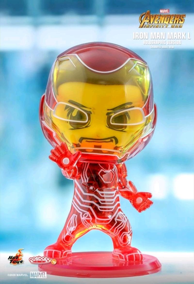 Avengers 3: Infinity War - Iron Man Mark L Hologram Cosbaby | Merchandise