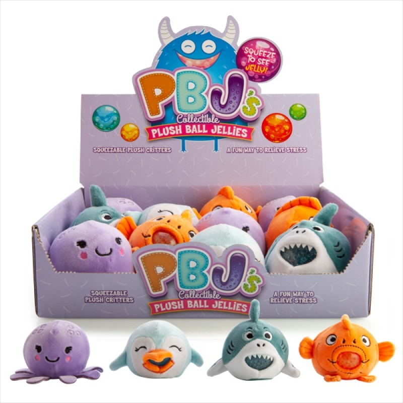 Sea Animal Plush Ball Jellies (SELECTED AT RANDOM) | Toy