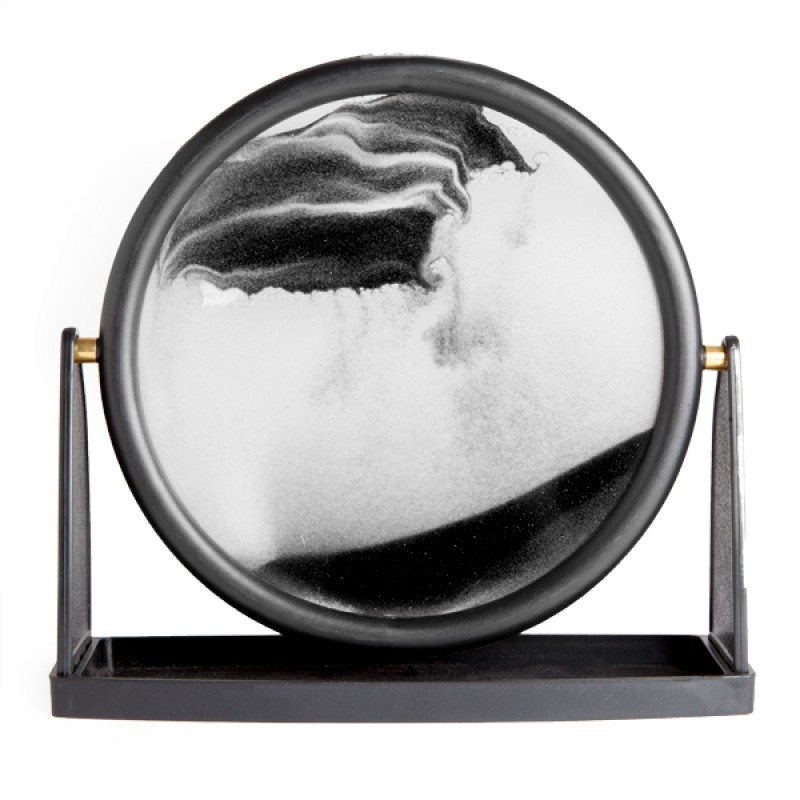 Round Black Sand Art | Homewares