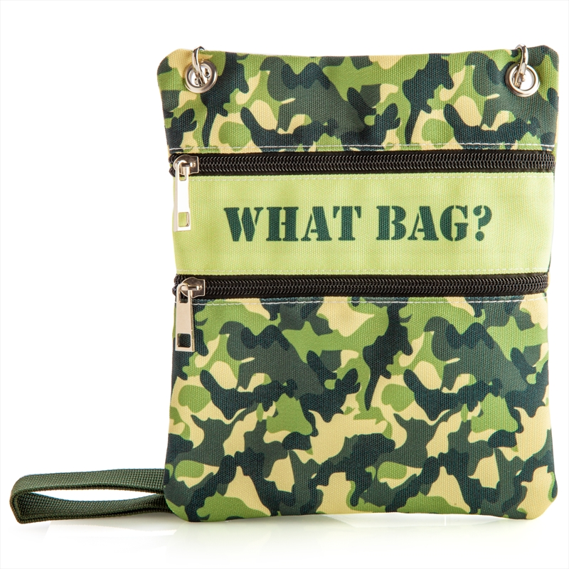 What Bag Camo Shoulder Bag   Apparel
