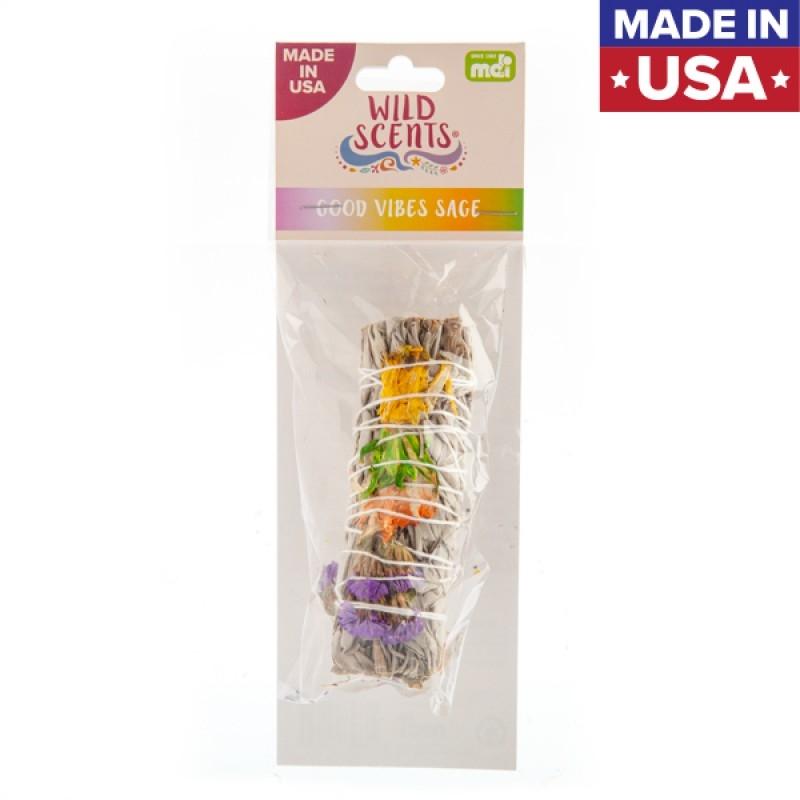 Wild Scents Good Vibes Sage & Herbs Smudge Stick | Homewares