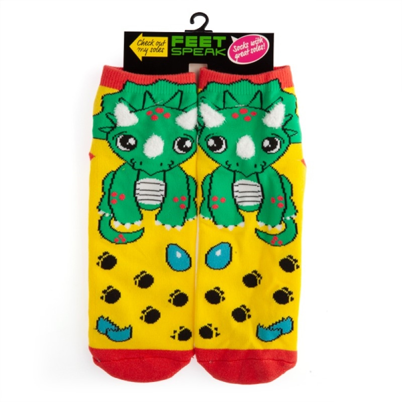 Triceratops Feet Speak Socks   Apparel