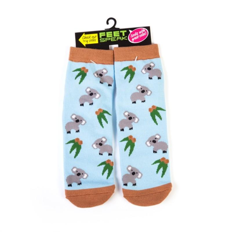 Koala Feet Speak Socks | Apparel