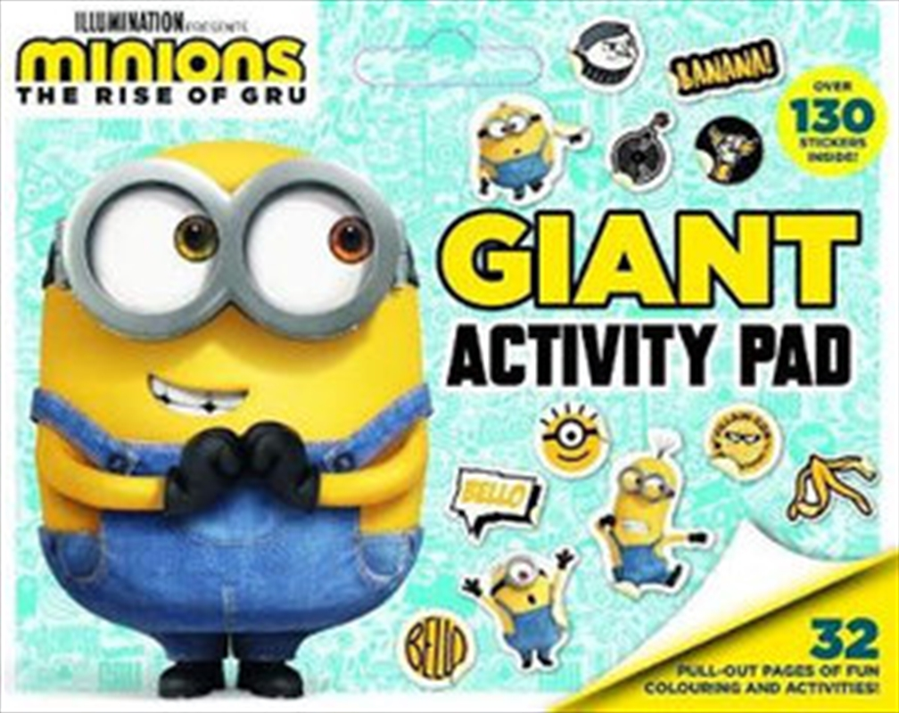 Minions The Rise Of Gru: Giant Activity Pad | Paperback Book