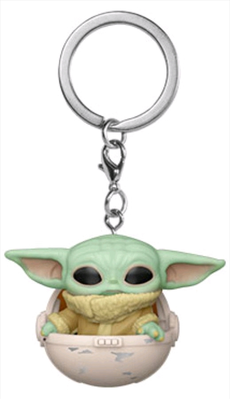 Star Wars: The Mandalorian - The Child in Hover Pram Pocket Pop! Keychain | Pop Vinyl