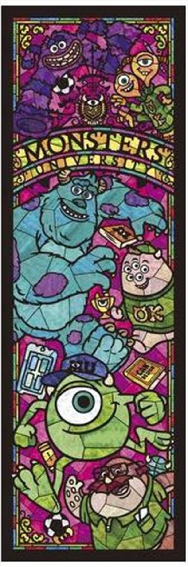 Tenyo Puzzle Disney Monsters University Stained Glass Puzzle 456 pieces | Merchandise