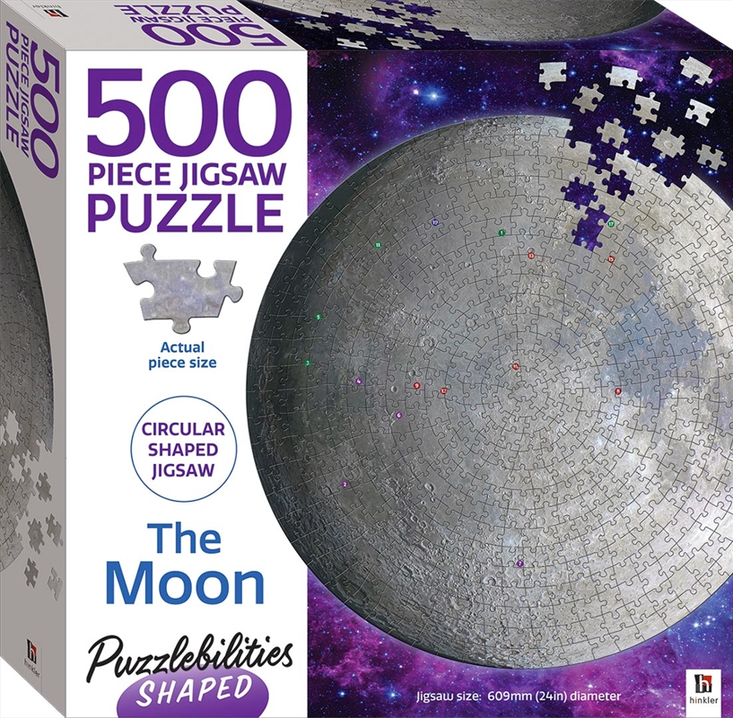 Puzzlebilities Shaped 500 Piece Jigsaw: The Moon   Merchandise