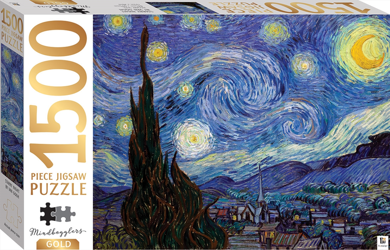 Mindbogglers Gold - Starry Night by Van Gogh 1500 Piece Puzzle | Merchandise