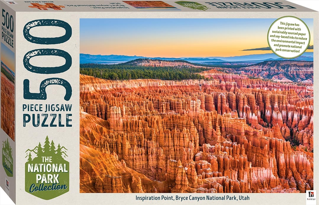 National Park Collection Jigsaw: Bryce Canyon, Utah 500 Piece Puzzle   Merchandise
