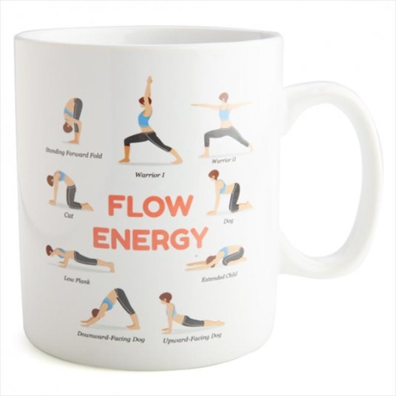 Yoga Poses Giant Coffee Mug | Merchandise