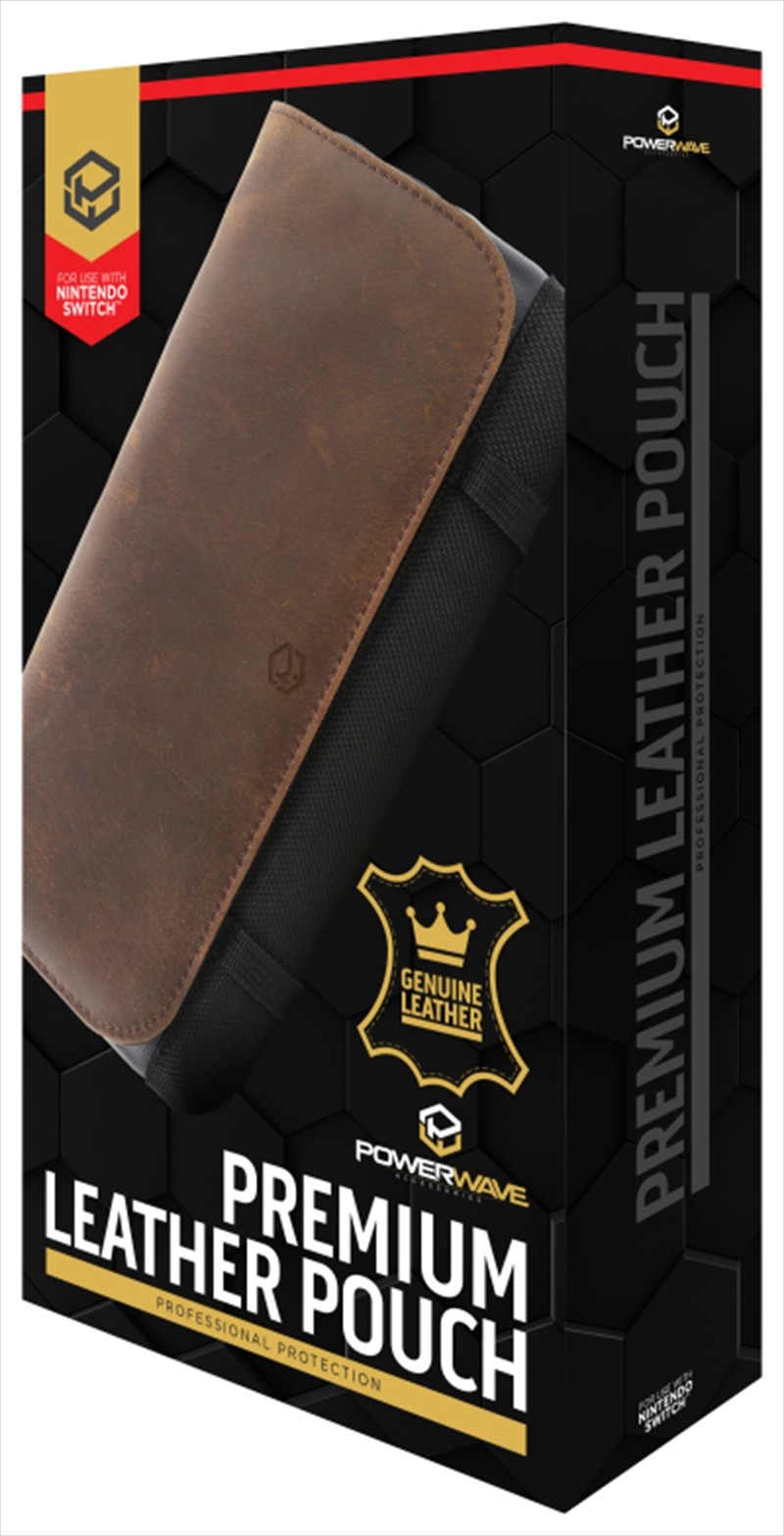 Powerwave Premium Leather Pouch for Nintendo Switch   Nintendo Switch