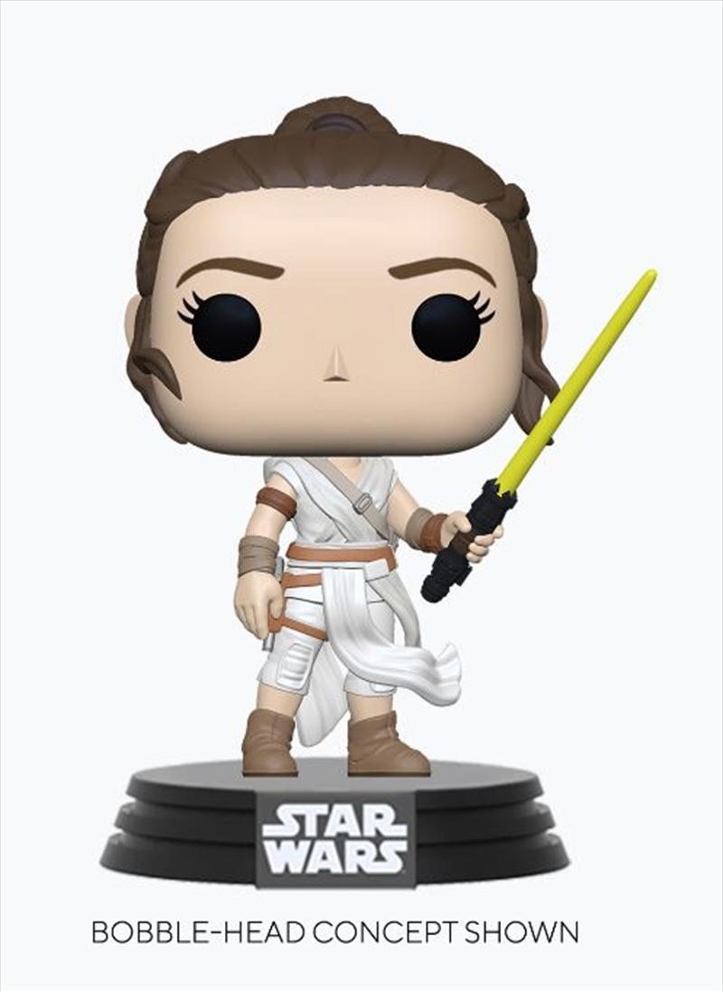 Star Wars - Rey with Yellow Saber Pop! Vinyl | Pop Vinyl
