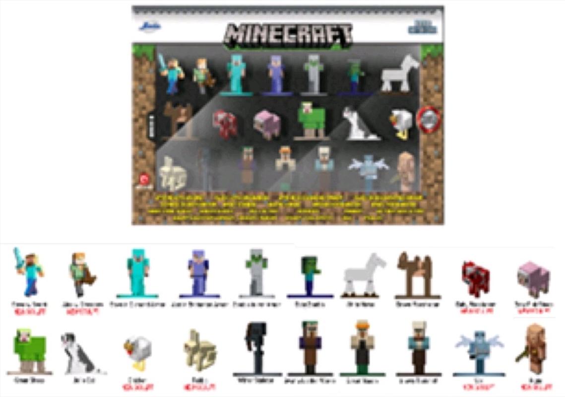 Minecraft - Nano Metalfigs 20-pack wave 06   Merchandise