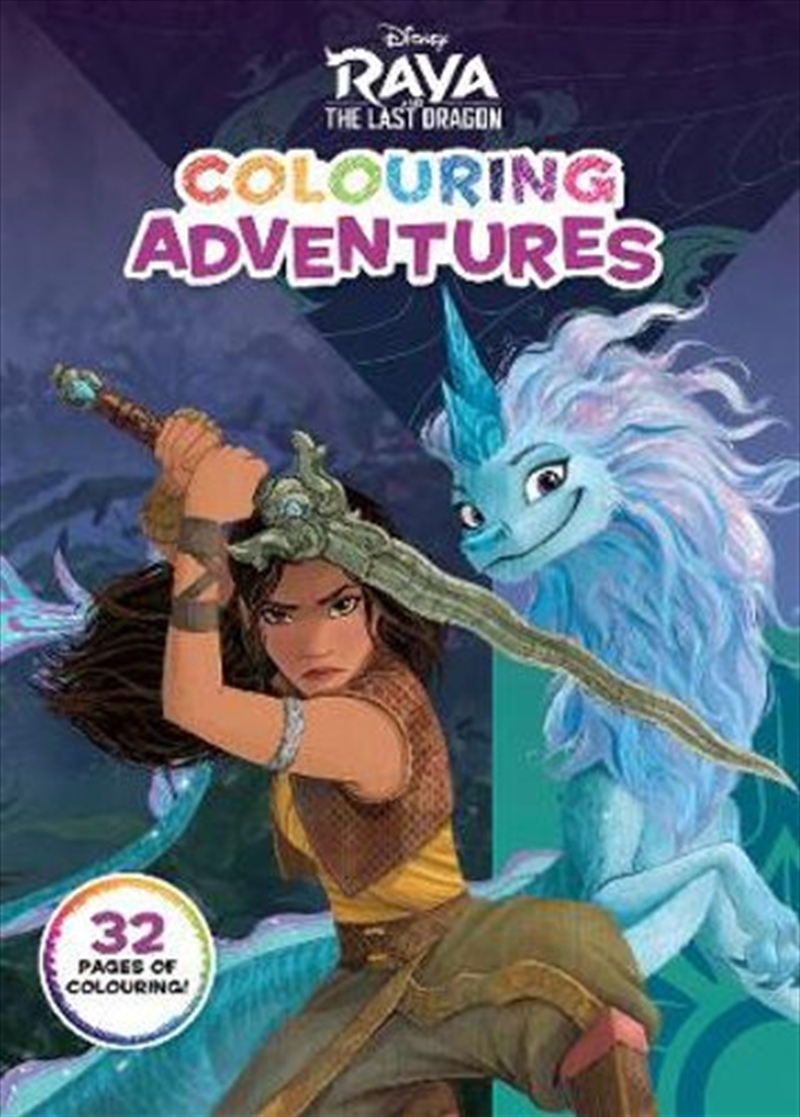 Raya and the Last Dragon Colouring Adventures | Paperback Book