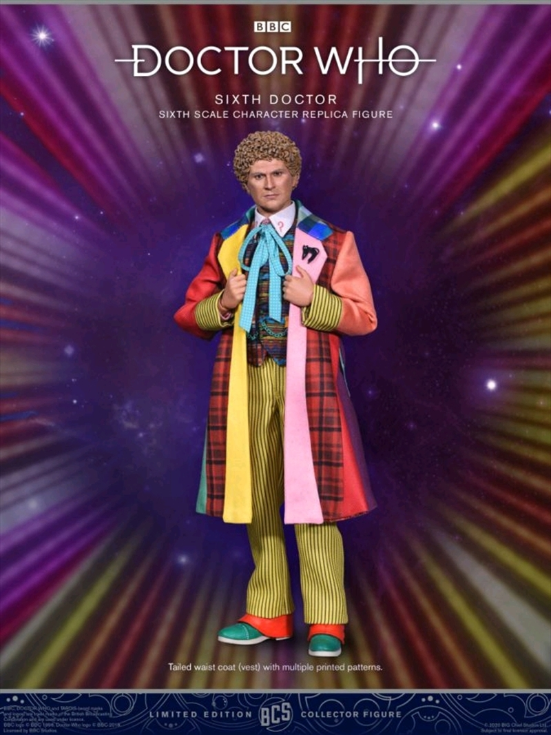 """Dr Who - Sixth Doctor 1:6 Scale 12"""" Action Figure 