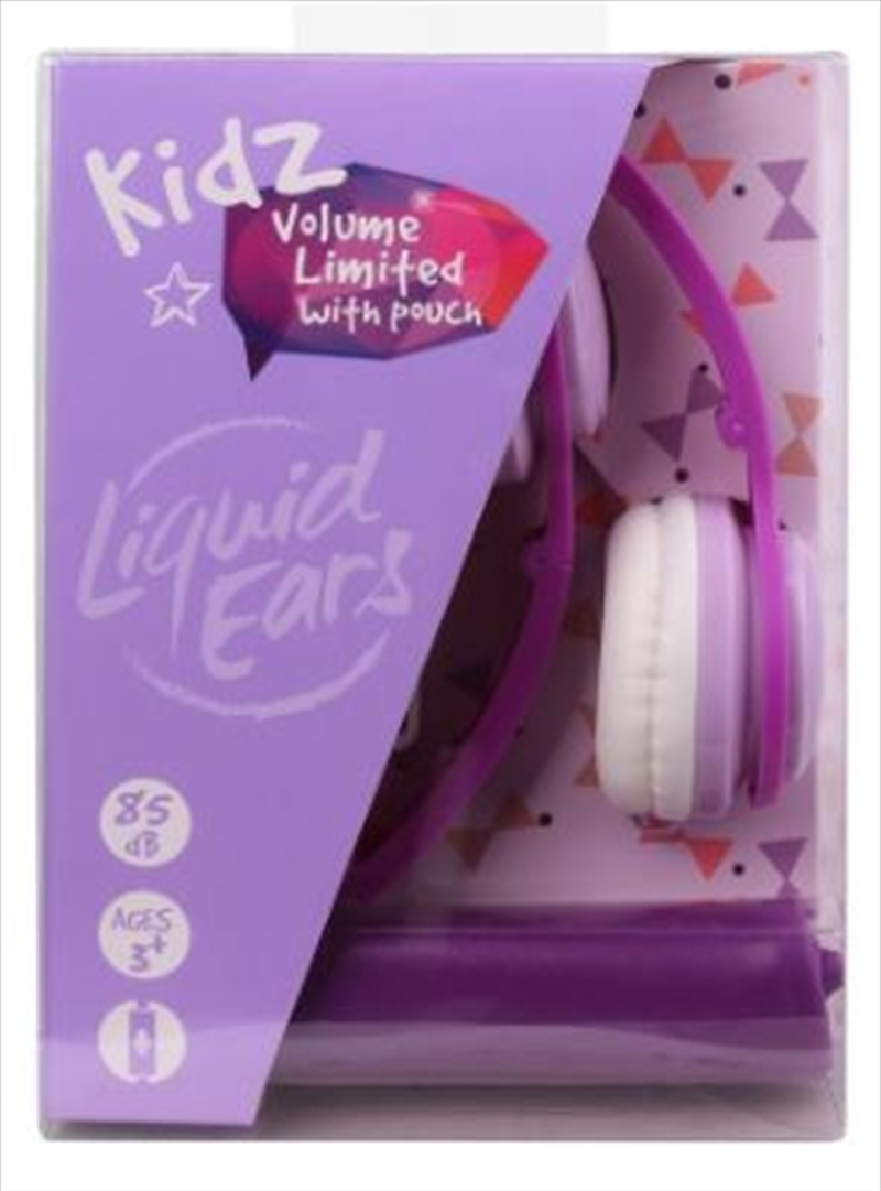 Liquid Ears - Kids Foldable Headphones With Microphone & Storage Pouch Purple | Accessories