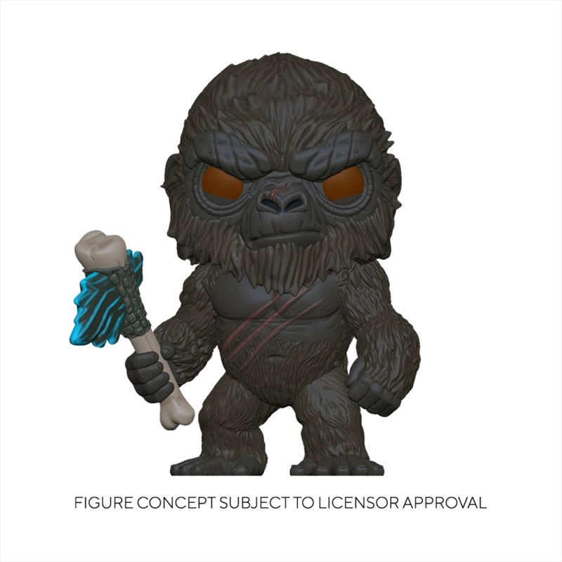 Godzilla vs Kong - King Kong with Scepter Flocked US Exclusive Pop! Vinyl [RS]   Pop Vinyl